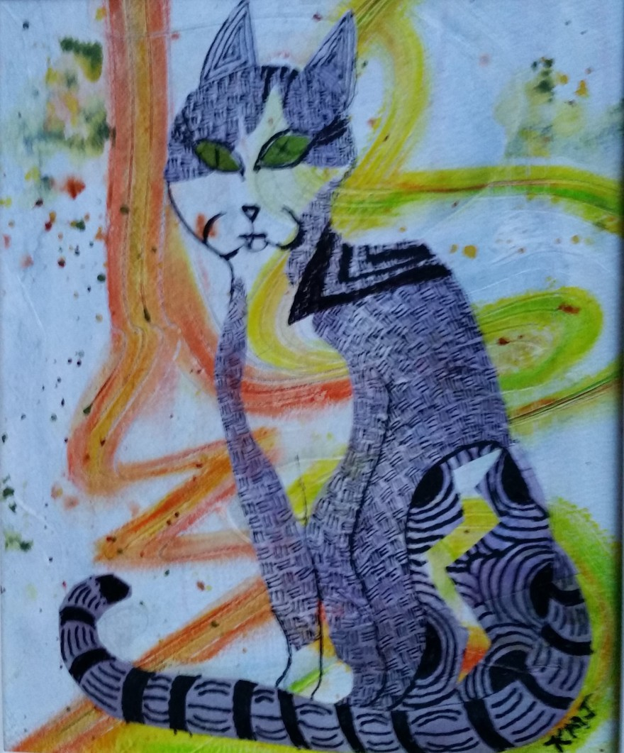One Eyed, One Fanged, Black Cat aka Luke_Sold.jpg